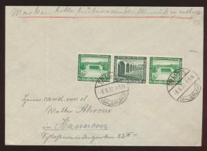 Deutsches Reich Brief Zusammendruck W 120 WHW Bauten Eslohe nach Hannover