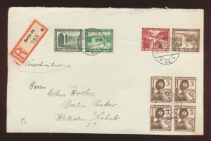 Deutsches Reich Briefvorderseite  MIF Zusammendruck WHW plus Viererblock Berlin