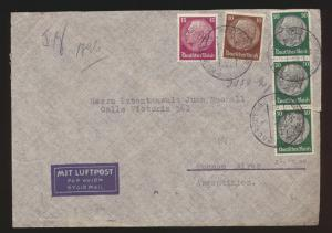 Deutsches Reich Flugpost air mail Zensur Brief Nürnberg Buenos Aires Argentinia