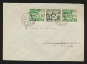 D. Reich Brief Zusammendruck WHW W 139  SST Leipzig nach Berlin Charlottenburg