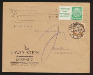 Reich Brief Zusammendruck Hindenburg + ZuF Chemnitz + Nachgebühr 4.6.1941