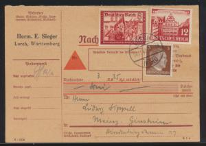 Deutsche Reich Brief Nachnahme MIF Kameradschaftsblock u.A. Lorch nach Mainz