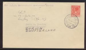 Flugpost air mail Niederlande Erstflug Brief Amsterdam Zürich SChweiz