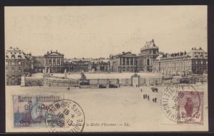 Flugpost air mail Frankreich Ansichtskarte 128 + schöner Vignette Ansichtskarte