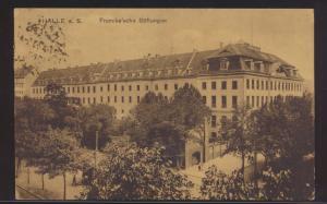 Ansichtskarte Halle Saale Frankesche Stiftungen nach Bismark 22.2.1920