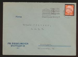 D. Reich Theater Brief EF Hindenburg Werbestempel Schiller Festspiele Stuttgart