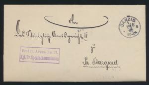 Danzig Dienstbrief kompl. mit Inhalt nach Preussisch Stargard Starogard Gdański