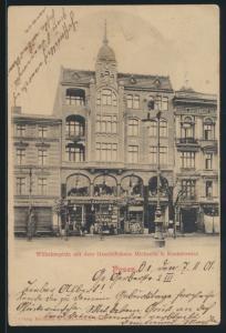 Ansichtskarte Posen Wilhelmplatz Geschäftshaus Michaelis & Kantorowisc n. Labiau