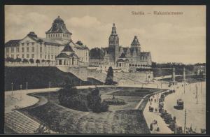 Ansichtskarte Stettin Westpommern Hakenterasse nach Labiau Ostpreussen