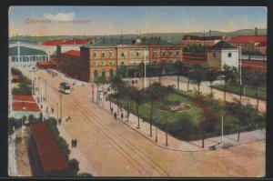 Ansichtskarte Chemnitz Sachsen Bahnhof per Feldpost nach Labiau Ostpreussen