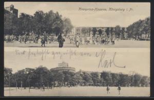 Ansichtskarte Königsberg Ostpreussen Kronprinz Kaseren per Feldpost nach Labiau