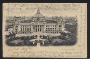 Ansichtskarte Berlin Reichstagsgebäude  nach Labiau Ostpreussen Polessk Russland