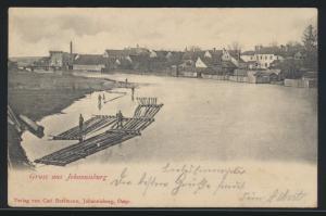 Bahnpost Ansichtskarte Allenstein Johannisburg nach Labiau Ostpreussen Polessk