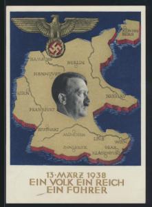 Deutsches Reich Propaganda Ganzsache Borna Leipzig Top Erhaltung 10.4.1938