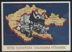 Deutsches Reich Propaganda Ganzsache P 275 Sudetenland Top Erhaltung 4.12.1938