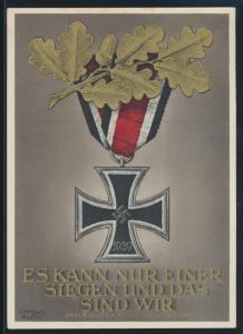 Deutsches Reich Propaganda Künstler Ansichtskarte Es kann nur einer siegen SST