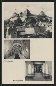 D. Reich Propaganda Ansichtskarte Gauführerschule NSDAP Gauleitung Sachsen