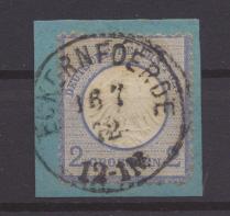 Briefmarken Deutsches Reich Brustschild 5 Briefstück K1 Eckernföerde 16.7.1872