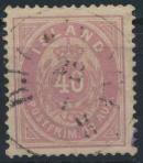 Island 15 A gestempelt - Freimarke Ziffern mit Krone 1882