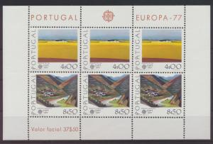 Portugal Block 20 Europa Cept Landschaften Luxus postfrisch MNH Kat.-Wert 40,00