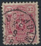 Finnland 18 A y gestempelt - Freimarke 32 Penni Wappen