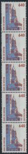 Bund 1811 R I 5er-Streifen - 640 Pf Dom zu Speyer SWK.