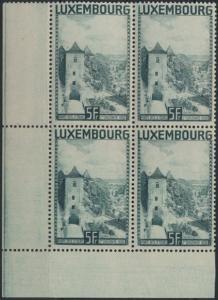 Luxemburg 258 Bogenecke Eckrand Viererblock Landschaften ungebraucht 1934