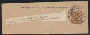 Österreich Privatganzsache Streifband Wien Ludwigshafen 3 H. Franz Joseph Wien60