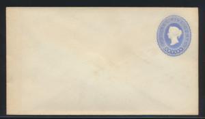 Ceylon Ganzsache Victoria U 27 5 c. blau sehr seltene GA postal stationery