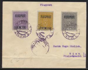 Flugpost air mail Österreich Austria Brief Mk Flugpostlinie Wien Krakau Kiew