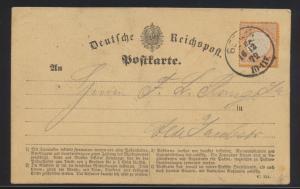 Deutsches Reich Brustschild Brief Karte EF 18 K1 Berlin