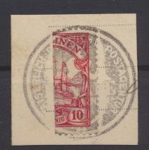 Deutsche Kolonien Karolinen Halbierung 9 H Ponape Ausgabe Luxus Briefstück