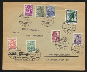 Österreich Deutsches Reich Ostmark Brief 2 Länder Frankatur Innsbruck Krefeld