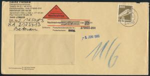 Bund Brief per Nachnahme 1138 Industrie & Technik Lübeck K2 6.6.1983
