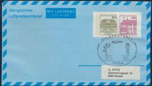 Bund Privatganzsache Flugpost 80 n.60 Burgen SST Filderstadt Flugpost Olympia