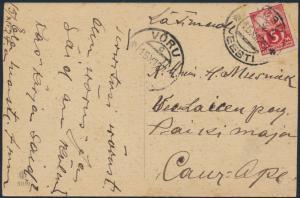 Estland Postkarte 37 A Võru 15.12.1927 Foto Segelboote Schiffe Meer Schiffspost