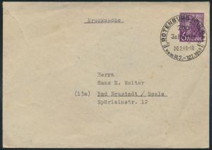 Alliierte Besetzung Brief 944 b SST Rotenburg 200 Jahrfeier nach Bad Neustadt
