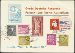 Bund Anlaßkarte Berlin 141+173+Bund 177x+179x+226x Deutsche Rundfunk Fernsehen