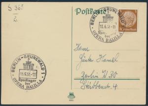 Deutsches Reich 513X SST Brandenburger Sportlager Opera Balilla Berlin Grunewald