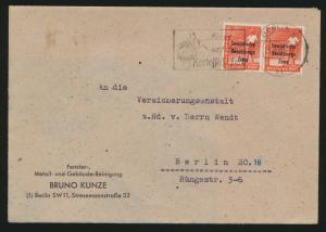 SBZ Brief MEF 184 Vorläufer Berlin vom 21.8.1948 Maschinenstempel Kartoffelkäfer
