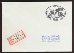 Flugpost Bund Brief SST Leck Tag der Luftwaffe Tiger Meet nach Wissen 7.9.1975