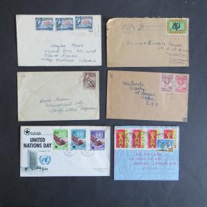 Ghana Goldküste Gold Coast Sammlung von 45 Briefen +Ganzsachen ab Unabhängigkeit