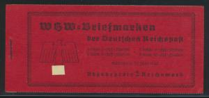 Deutsches Reich Markenheftchen WHW 46 2 Reichsmark Luxus postfrisch MNH 130,00