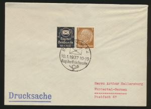 Deutsches Reich Brief Zusammendruck Hindenburg Reklame Tag der Briefmarke