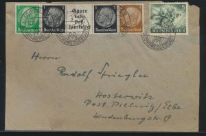 Deutsches Reich Brief Zusammendruck Hindenburg + ZuF SST Leipzig Messestadt
