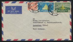 Burma Myanmar Birma Brief nach Lauenburg Elbe Trier cover to Germany