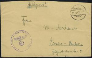 Feldpost Brief mit Tarnstempel H........ vom 11.9.1943 L 07372 nach Essen