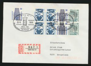 Bund Zusammendruck Heftchenblatt 30 R Brief ZuF SST Kiel Philatelie Briefmarken