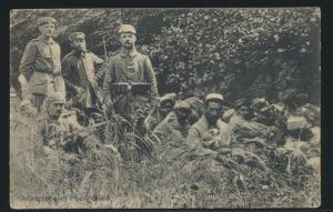 Frankreich France Ansichtskarte Gefangene Priesterwald Feldpost Feldpoststation