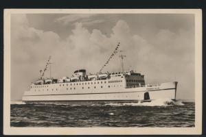 Ansichtskarte Schiffspost Fährschiff Th. Heuss Eisenbahn Verbindung Großenbrode